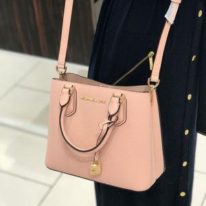 MICHAEL KORS Messenger Crossbody Leather Bag  Pink